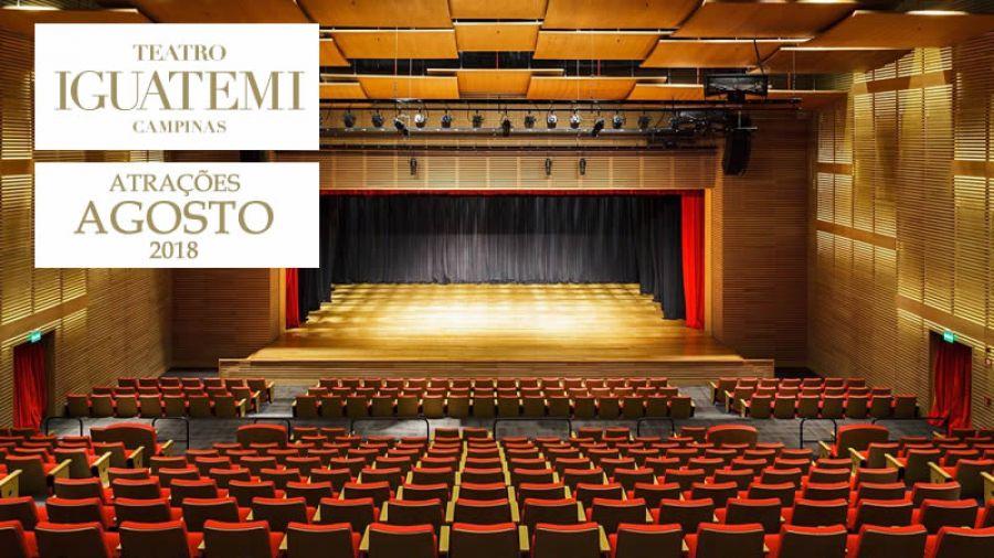 Teatro Iguatemi - Programação de agosto
