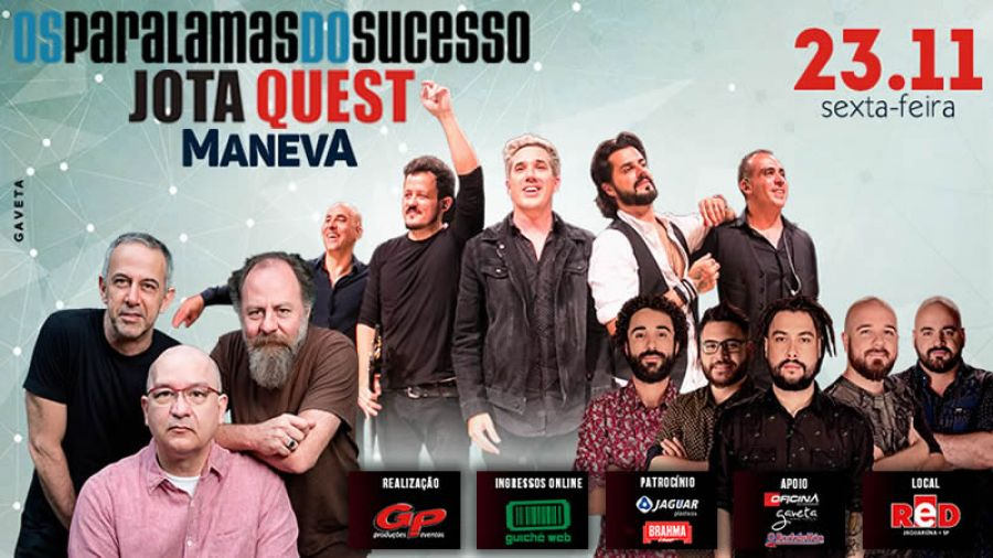 23.11 - Red Eventos | Paralamas, Jota Quest e Maneva