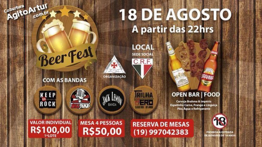 18.08 - Clube Floresta | 1º Beer Fest